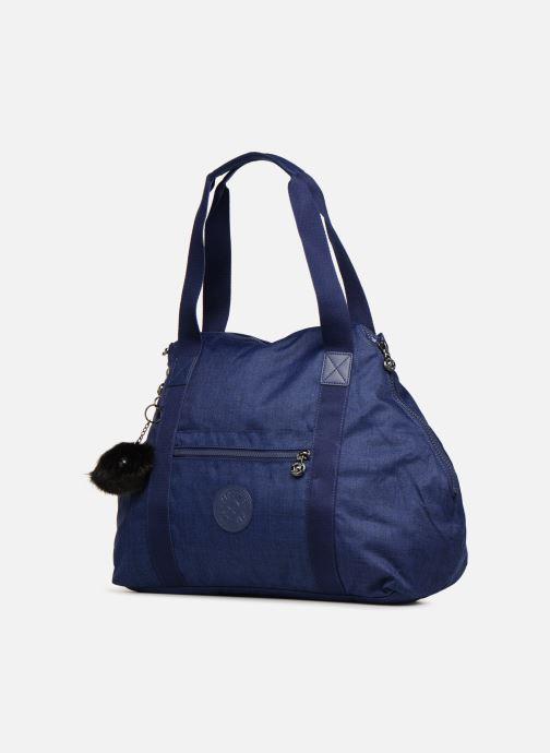 Bagages Kipling Art M Bleu vue portées chaussures