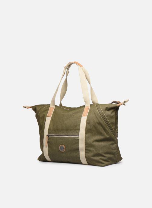 Bagagli Kipling Art M Verde modello indossato