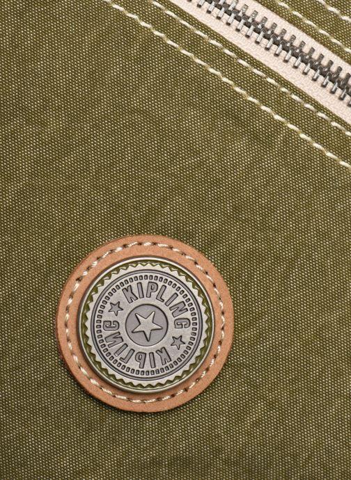 Reisegepäck Kipling Art M grün ansicht von links