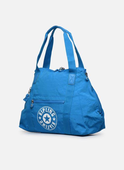 Bagagli kipling Art M Azzurro modello indossato