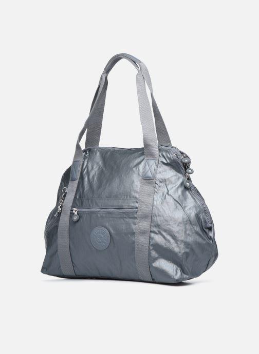 Reisegepäck Kipling Art M silber schuhe getragen