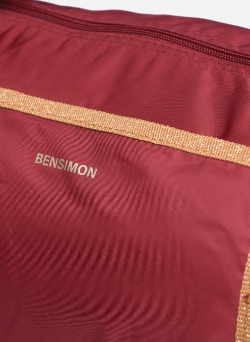 Sporttaschen Bensimon Color Bag weinrot ansicht von links
