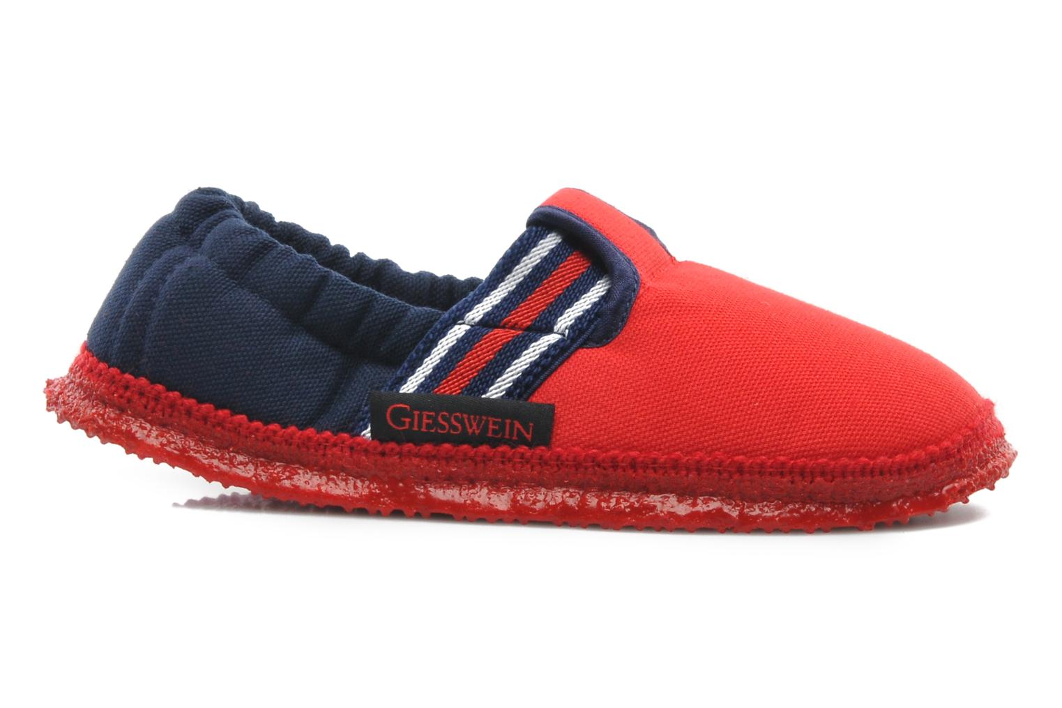 Slippers Giesswein Aichach Red back view