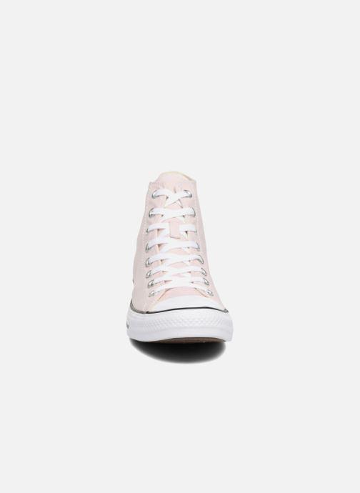 Baskets Converse Chuck Taylor All Star Hi M Rose vue portées chaussures