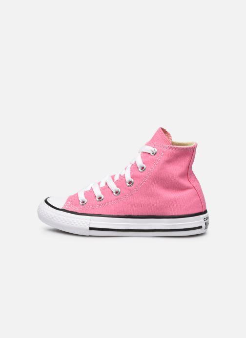 Sneaker Converse Chuck Taylor All Star Core Hi rosa ansicht von vorne