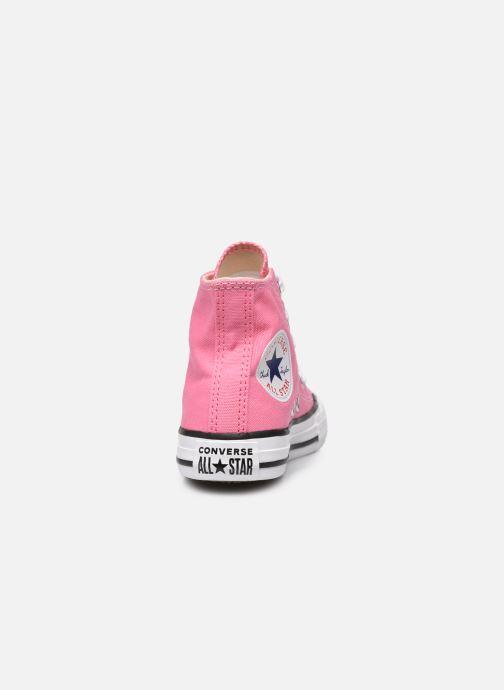 Sneaker Converse Chuck Taylor All Star Core Hi rosa ansicht von rechts