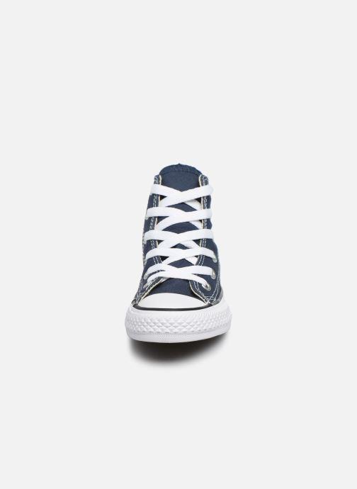 Sneaker Converse Chuck Taylor All Star Core Hi blau schuhe getragen