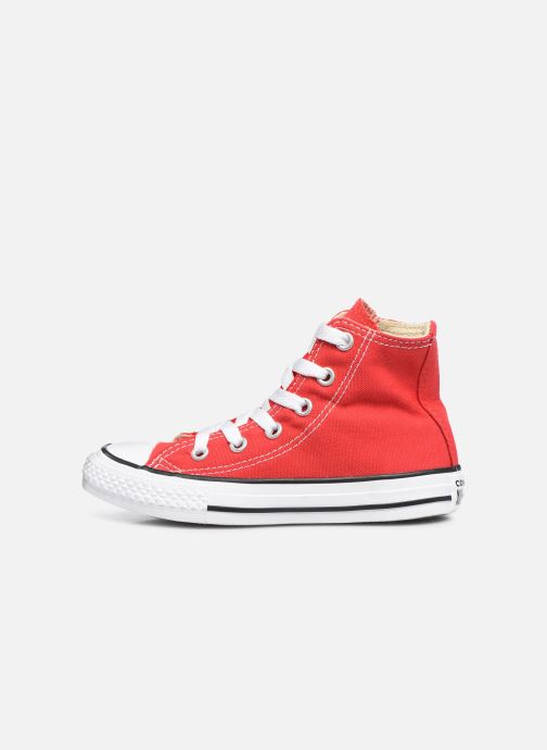Sneakers Converse Chuck Taylor All Star Core Hi Rød se forfra