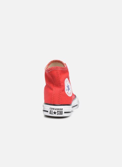 Sneakers Converse Chuck Taylor All Star Core Hi Röd Bild från höger sidan