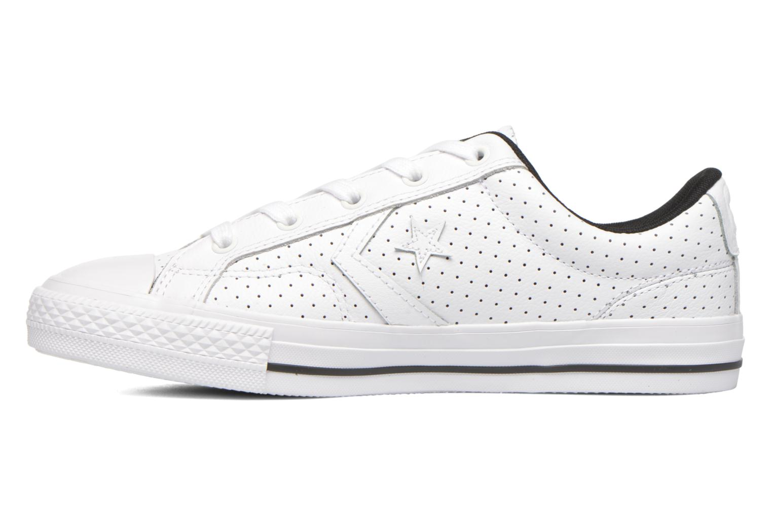 Baskets Converse Star Player Cuir Ev W Blanc vue face