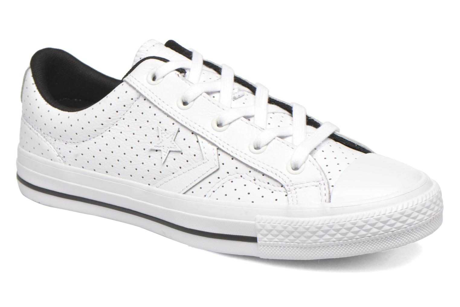 Baskets Converse Star Player Cuir Ev W Blanc vue détail/paire