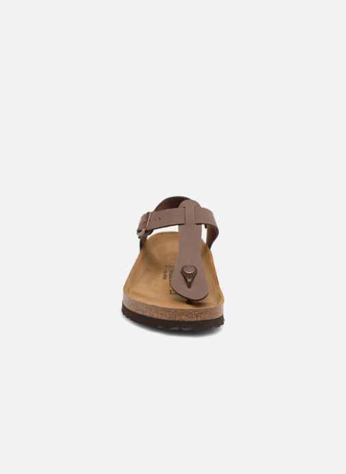 Sandalen Birkenstock Kairo Flor W braun schuhe getragen