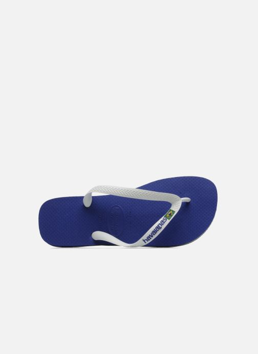 Flip flops Havaianas Brazil Logo H White view from the left