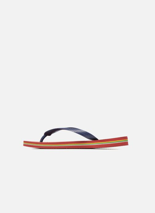Tongs Havaianas Brasil Logo H Bordeaux vue face