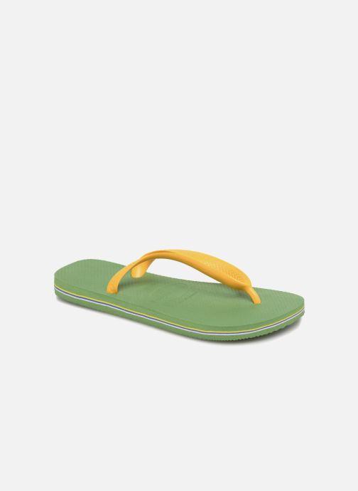 246369f30938 Havaianas Brazil Logo H (Green) - Flip flops chez Sarenza (312963)