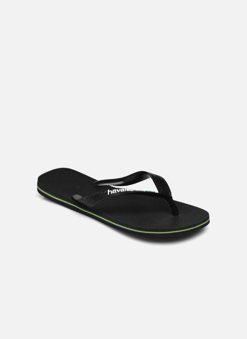 Zehensandalen Havaianas Brazil Logo H schwarz schuhe getragen