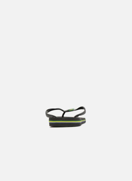 Flip flops Havaianas Brazil Logo H Black view from the right