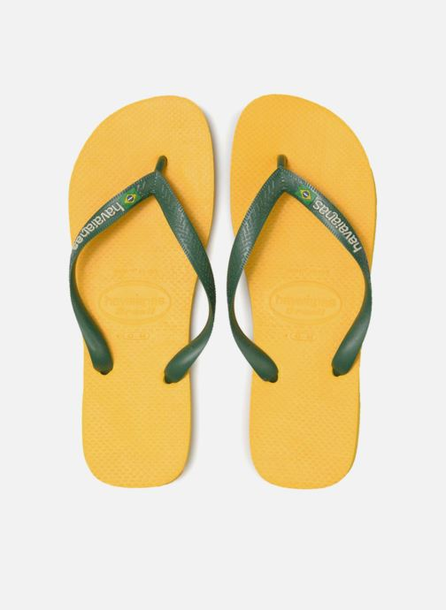Flip flops Havaianas Brazil Logo H Yellow model view