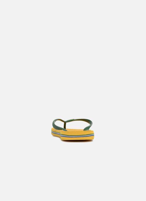 Zehensandalen Havaianas Brazil Logo H gelb ansicht von rechts