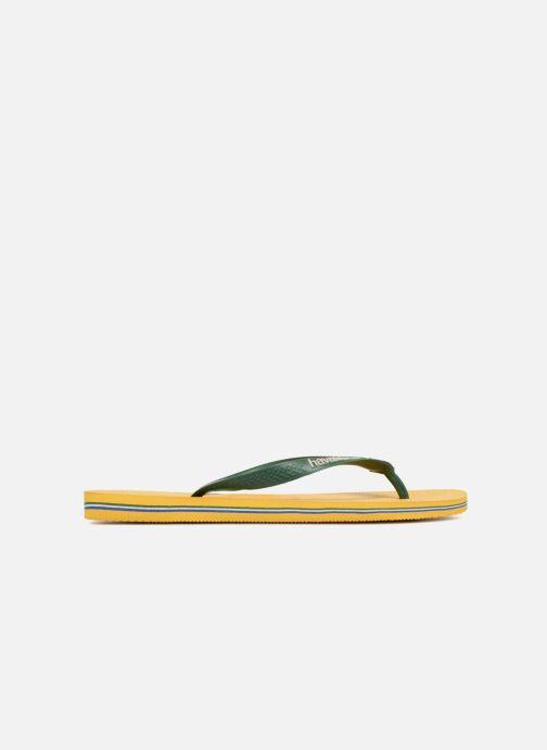 Flip flops Havaianas Brazil Logo H Yellow back view