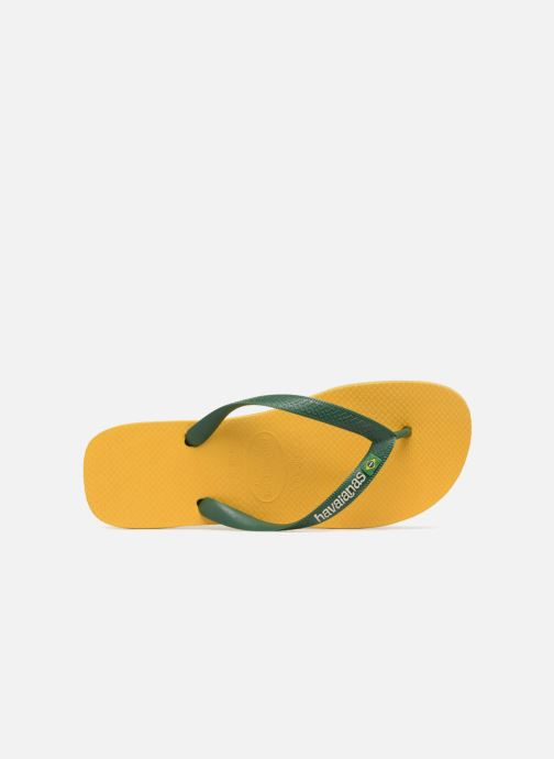 Flip flops Havaianas Brazil Logo H Yellow view from the left