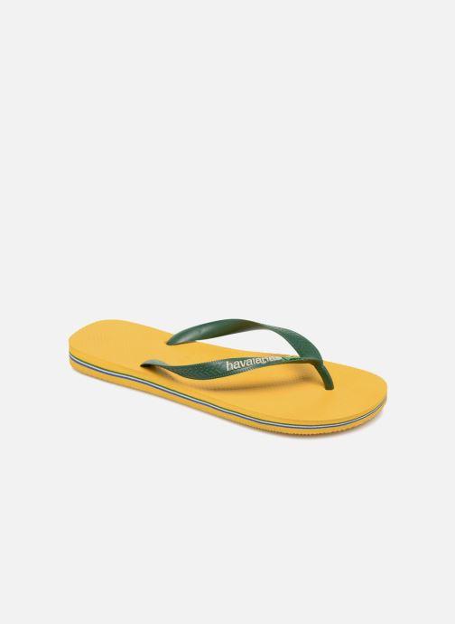 Flip flops Havaianas Brazil Logo H Yellow detailed view/ Pair view