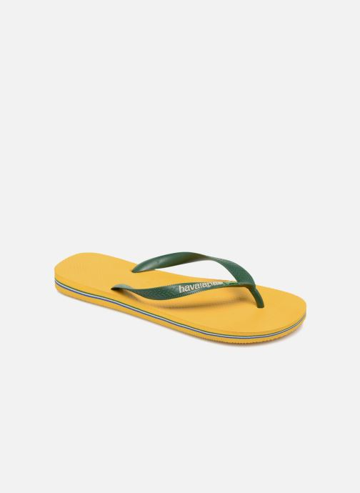 Chanclas Havaianas Brazil Logo H Amarillo vista de detalle / par