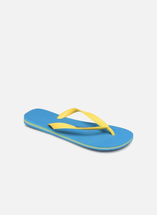 Tongs Havaianas Brasil Logo H Bleu vue détail/paire
