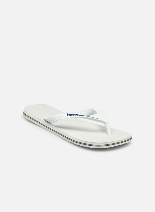 Tongs Havaianas Brasil Logo H Blanc vue portées chaussures
