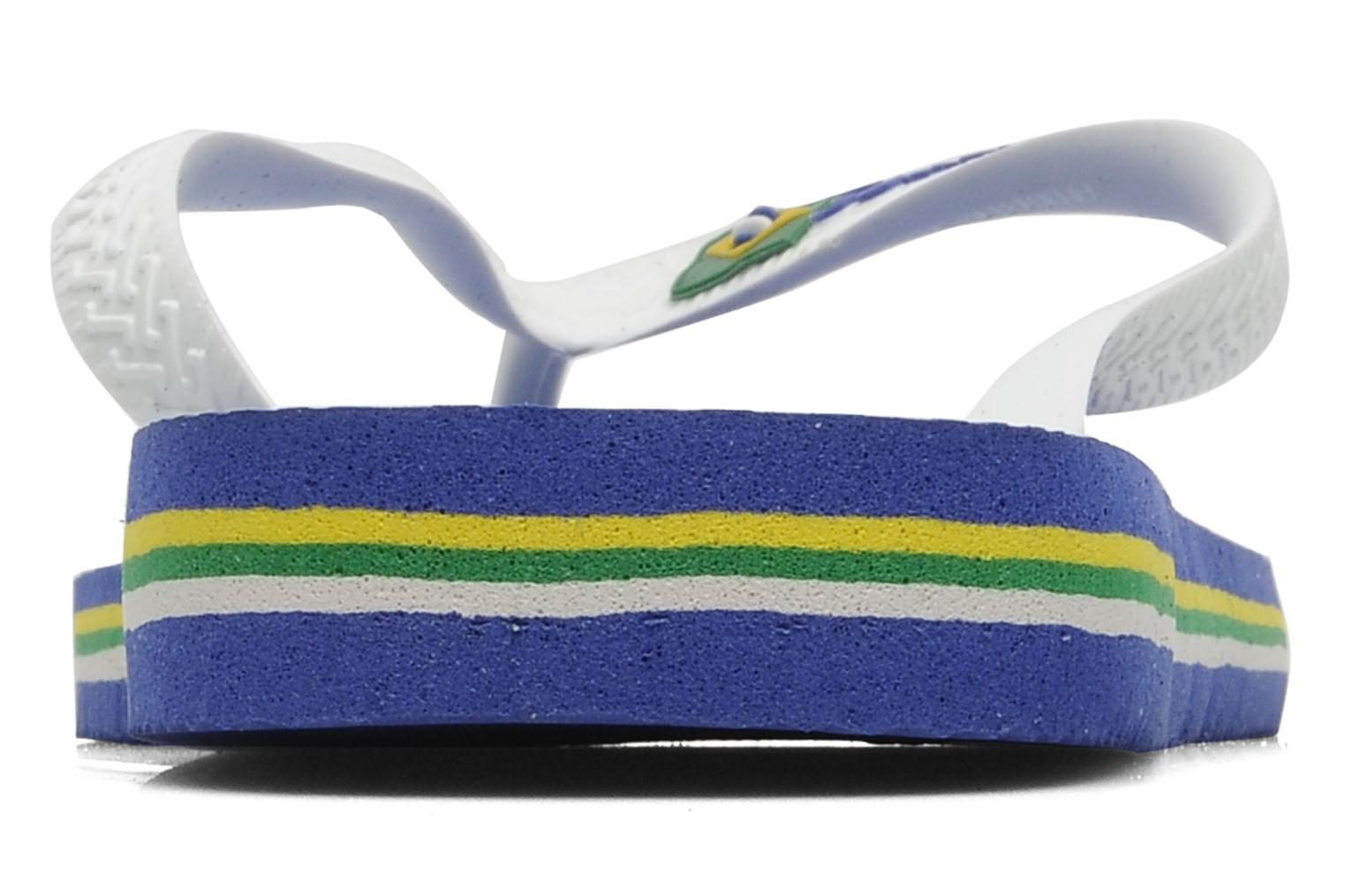 Flip flops Havaianas Brazil Logo H White view from the right