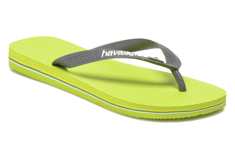 Zehensandalen Havaianas Brazil Logo H grün detaillierte ansicht/modell