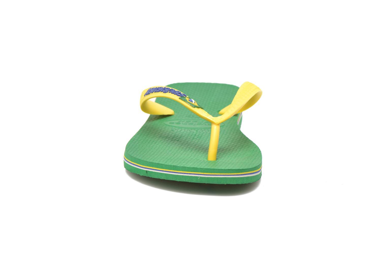 Tongs Havaianas Brasil Logo H Vert vue portées chaussures