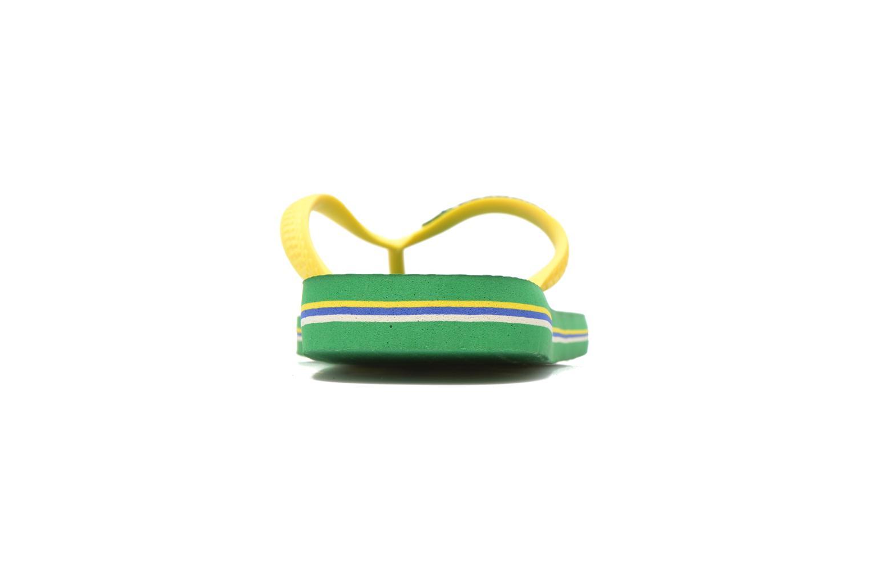 Tongs Havaianas Brasil Logo H Vert vue droite