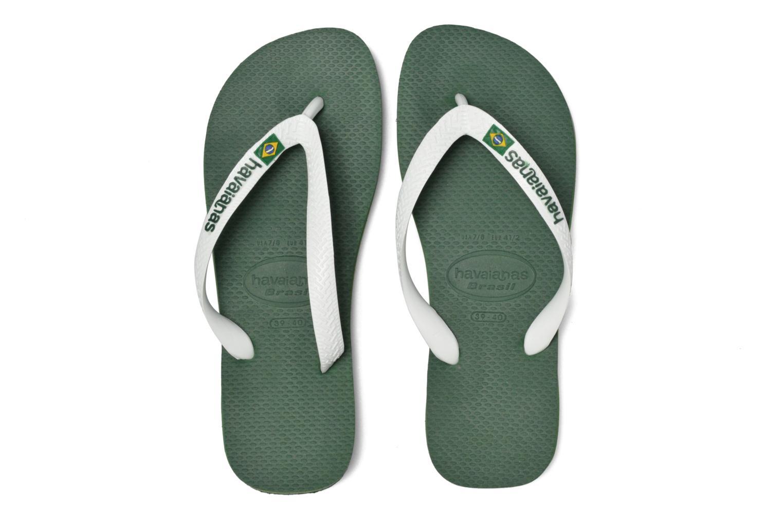 Flip flops Havaianas Brazil Logo H Green 3/4 view