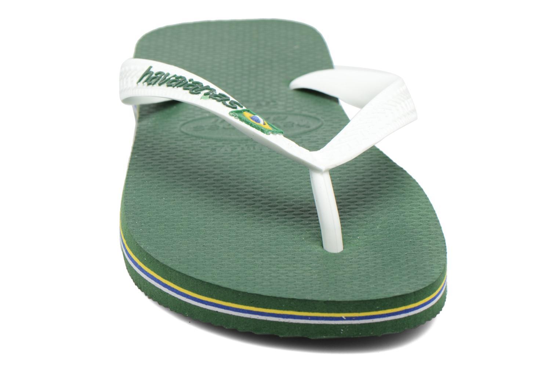 Flip flops Havaianas Brazil Logo H Green model view