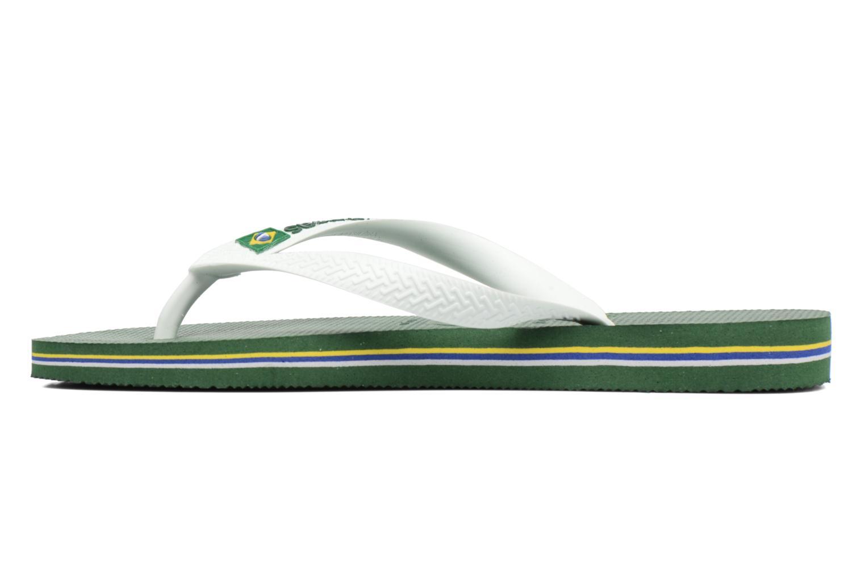 Flip flops & klipklapper Havaianas Brasil Logo H Grøn se forfra