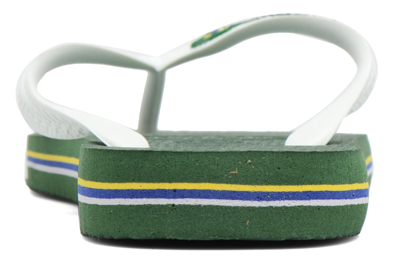 Flip flops & klipklapper Havaianas Brasil Logo H Grøn Se fra højre