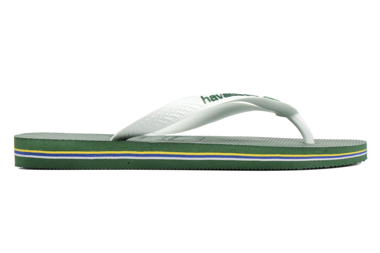 Flip flops & klipklapper Havaianas Brasil Logo H Grøn se bagfra