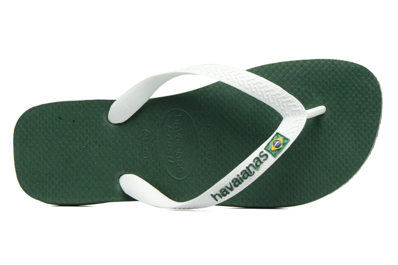 Flip flops & klipklapper Havaianas Brasil Logo H Grøn se fra venstre