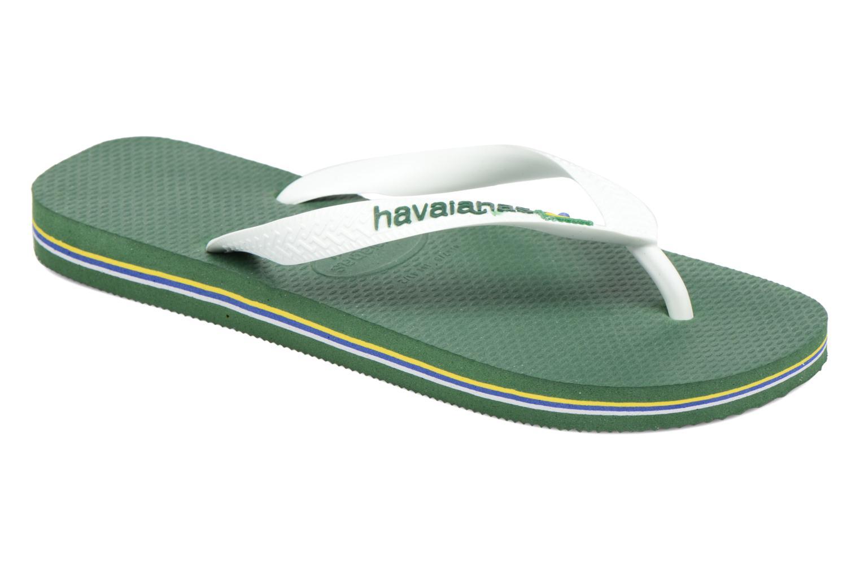Flip flops Havaianas Brazil Logo H Green detailed view/ Pair view