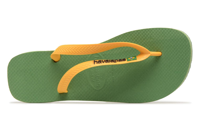 Zehensandalen Havaianas Brazil Logo H grün ansicht von links