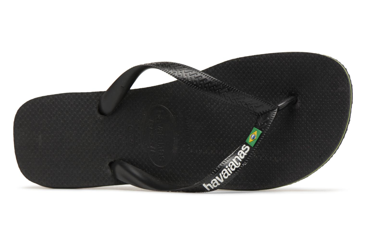Flip flops Havaianas Brazil Logo H Black view from the left