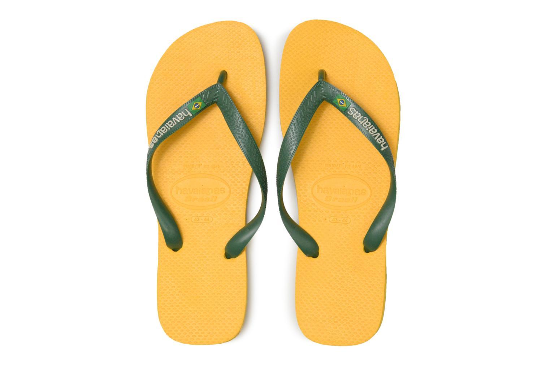 Flip flops Havaianas Brasil Logo H Gul bild av skorna på