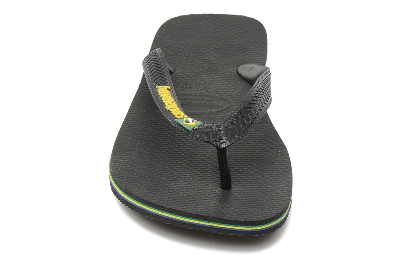 Tongs Havaianas Brasil Logo H Noir vue portées chaussures