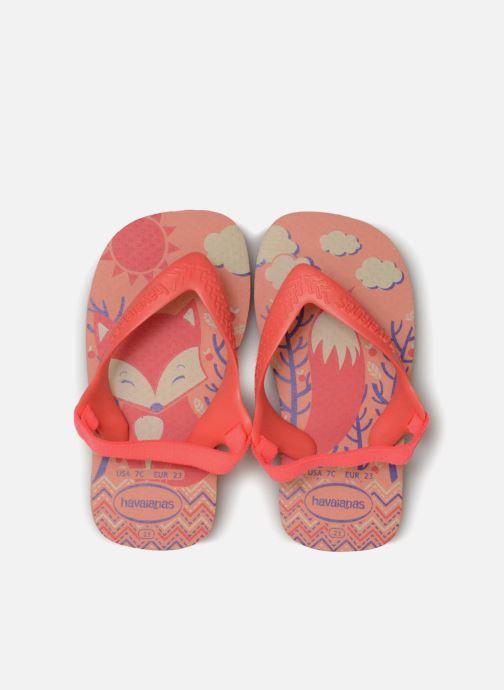 Tongs Havaianas Baby Pets Orange vue portées chaussures