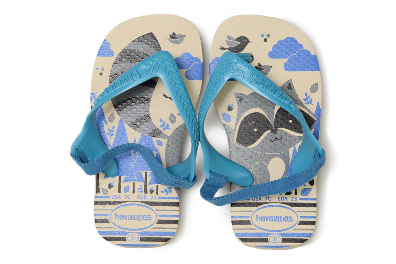 Tongs Havaianas Baby Pets Bleu vue portées chaussures