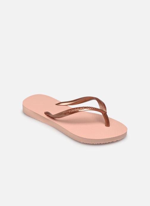 Slippers Havaianas Kids Slim Roze model