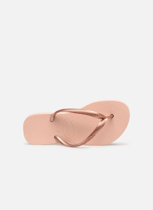 Tongs Havaianas Kids Slim Rose vue gauche
