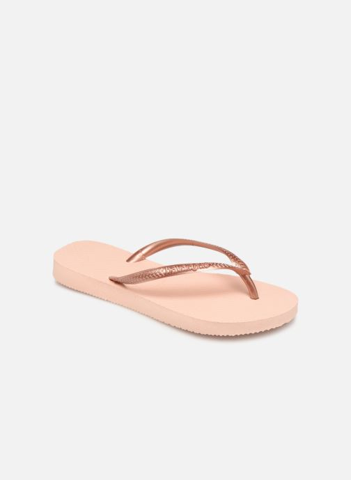 Tongs Havaianas Kids Slim Rose vue détail/paire