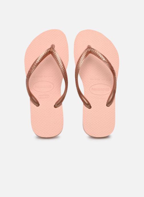 Flip flops & klipklapper Havaianas Kids Slim Pink detaljeret billede af skoene